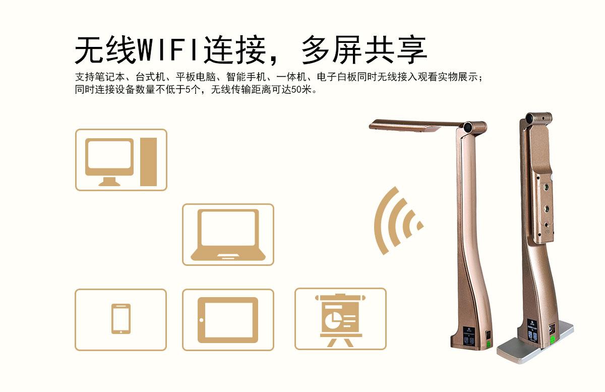 无线WIFI连接,多屏共享